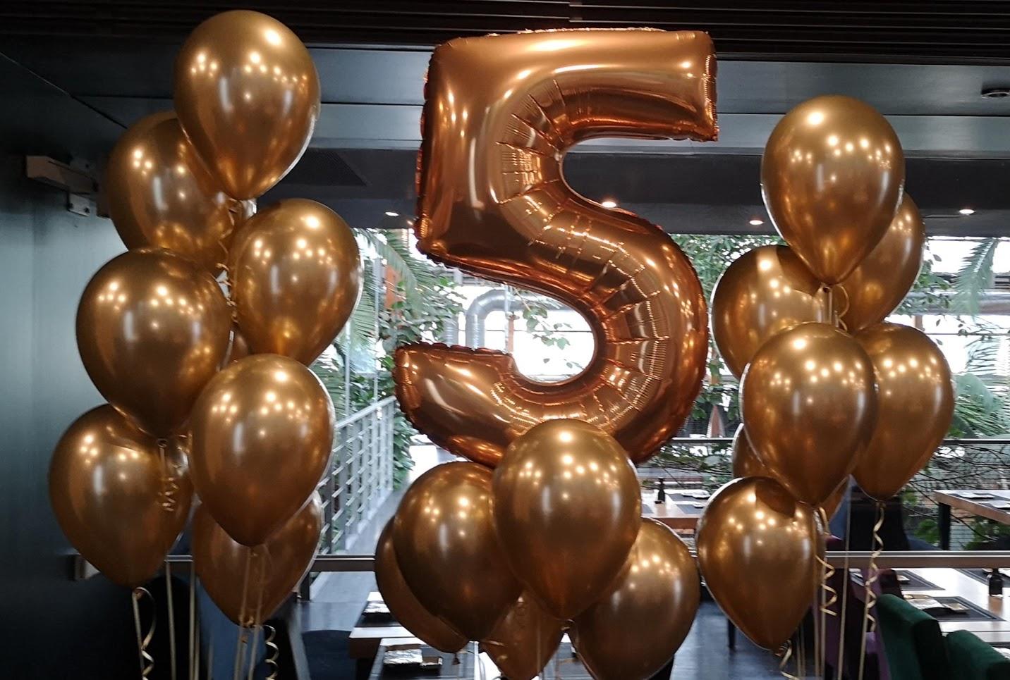 Balony w kształcie cyfry Warszawa