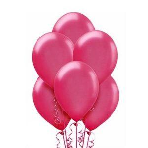 Balony lateksowe eko w kolorze ciemno różowym