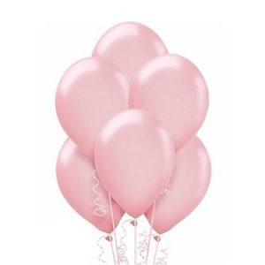 Balony różowe z helem dla dziewczynki Warszawa