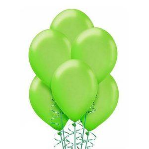 Balony metalizowane jasno zielone
