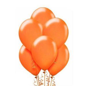 Balony metalizowane ekologiczne lateksowe w kolorze pomarańczowym