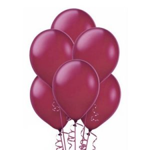 Balon lateksowy w kolorze bordowym