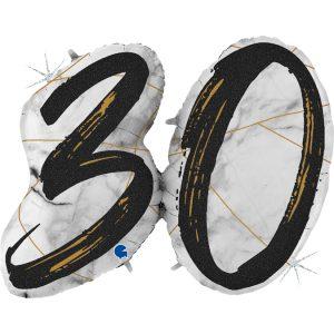 Balon tani z helem na 30 urodziny balony cyfry z helem Warszawa