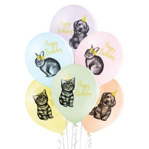 Balony lateksowe ze zwierzątkami na urodziny na hel