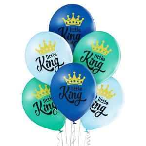 Balony z helem bukiet z 6 balonów na przywitanie dziecka w domu