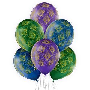 Balony z helem w pawie pióra