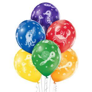 Balony ze zwierzętami morskimi na przyjęcie typu mała syrenka