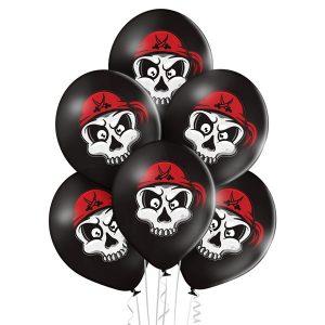 Balony z helem na piracką imprezę