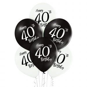 Balony na czterdzieste urodziny z helem w Warszawie