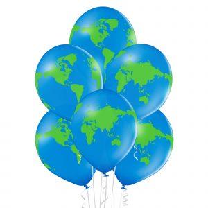 Balony helowe z ziemią globus kosmos