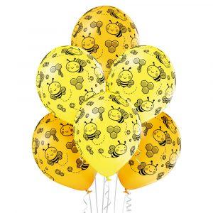 Balony z helem przczółka żółte