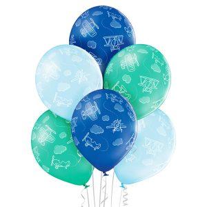 Balony dekoracyjne z samolotami