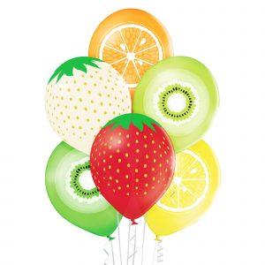 Owoce z balonów balony z helem