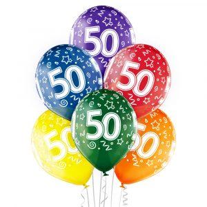 Balony z helem w Warszawie na 50 urodziny