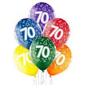 Balony z helem na siedemdziesiąte urodziny babci