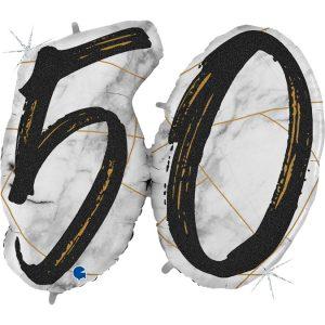 Balon duży na 50 urodziny jako jeden balon a nie dwie osobne cyferki?