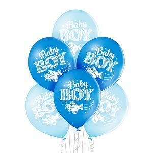 Małe balony lateksowe z helem na Baby Shower