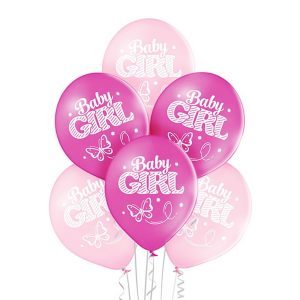 Baloniki na narodziny dziecka różowe