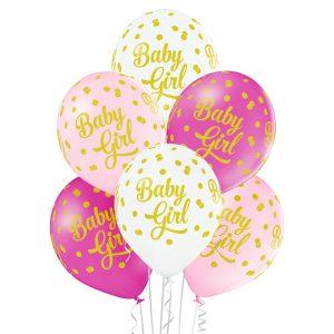 Balony na narodziny dziewczynki Baby Shower