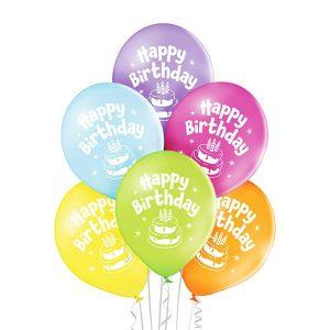Balony z nadrukowanym tortem urodzinowe tort świeczki na balonie