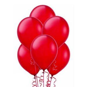 Balony metalizowane w kolorze czerwonym na hel z helem w Warszawie