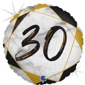 Mały balonik z helem na 30 urodziny tanibalon helovy