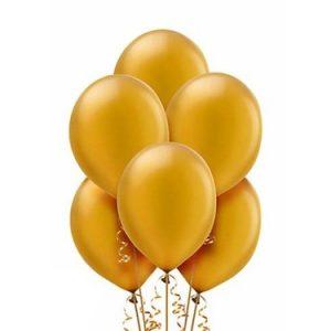 Balony eko lateksowe metaliczne w kolorze złota