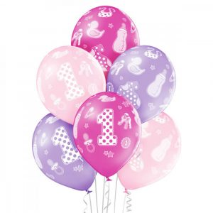 Balon na pierwsze urodziny córeczki na hel lub powietrze