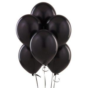 balony czarne lateksowe bukiet