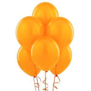 Balony w kolorze pomarańczowym