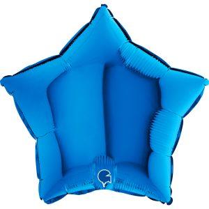 Balon foliowy w kształcie gwiazdki ciemno niebieski granatowy