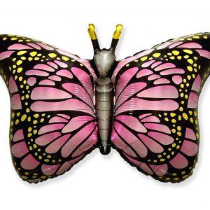 Balon w kształcie różowego motylka