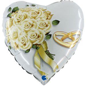 Balon w kształcie serca na Wesele - Dekoracja weselna Ślubna