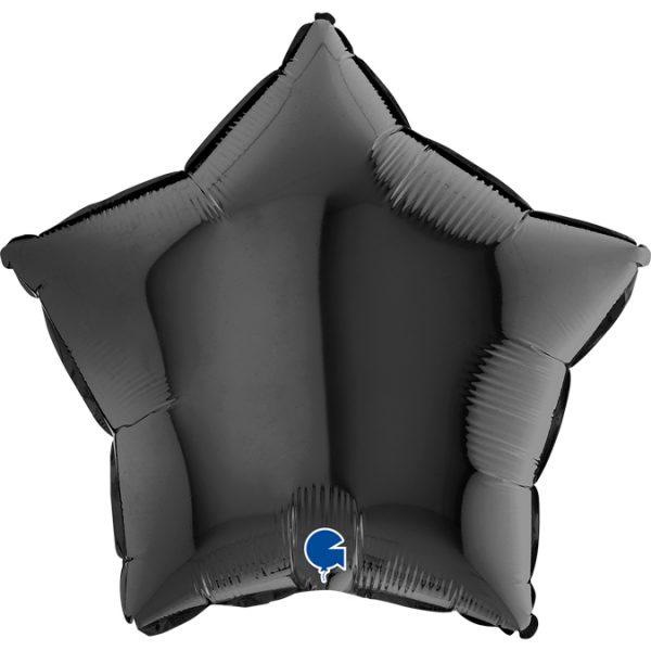 Balon w kształcie czarnej gwiazdy