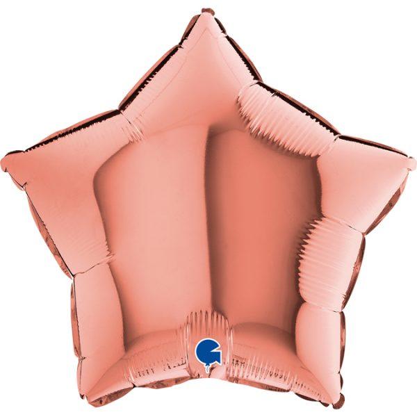 Balon w kształcie gwiazdki w kolorze Rose Gold