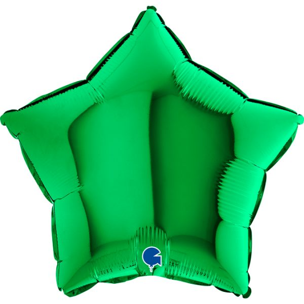 Balon w kształcie zielonej gwiazdki na hel