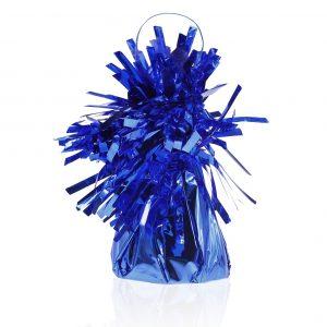 Niebieski ciężarek foliowy do balonów z helem